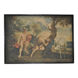 Antique Mythological Oil Painting