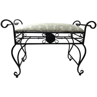 Wrought Iron Vanity Bench