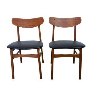 Danish U Back Teak Chairs - Set of 2