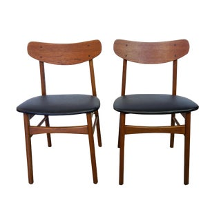 Danish U Back Teak Chairs - Set of 2