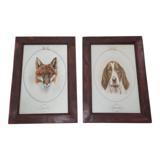Horse & Hound Prints - a Pair