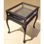 Image of Vintage Glass Top Vitrine Display Table