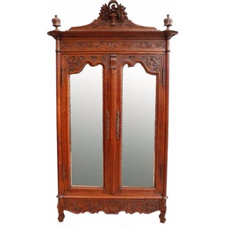 Antique Normandy-Style Armoire