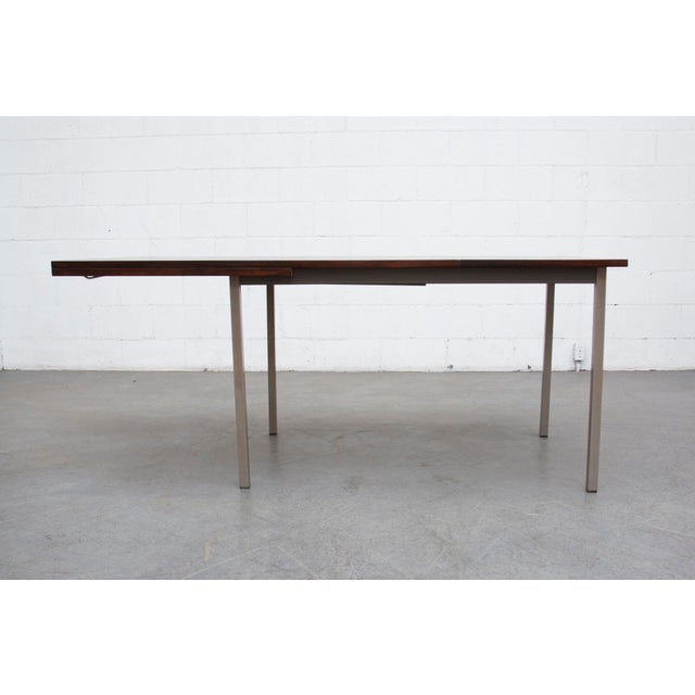 rosewood industrial style dining table chairish