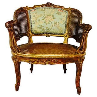 Antique French Louis XV-Style Gilt Wood Chair