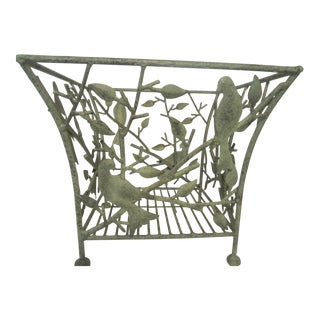 Wrought Iron Bird Planter Stand