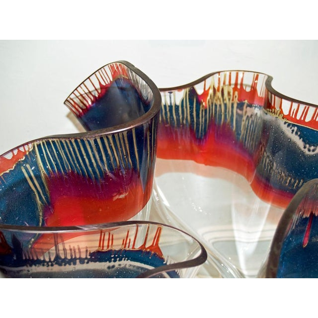 Laurel Fyfe Fazzoletto Slumped Glass Sculpture - Image 4 of 5