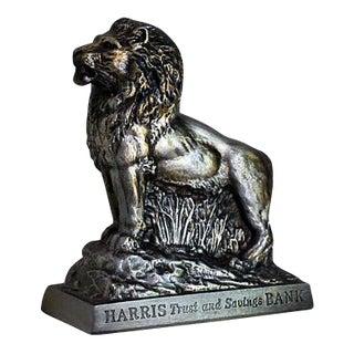 """1950s """"Harris Trust Advertising Premium"""" Lion Bank"""
