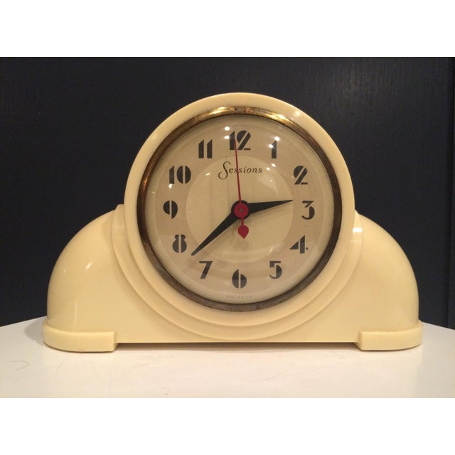 Image of Vintage Sessions Art Deco Style White Clock