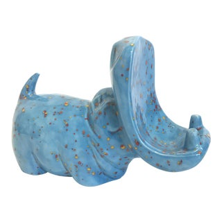 Ceramic Hippo Business Card Holder