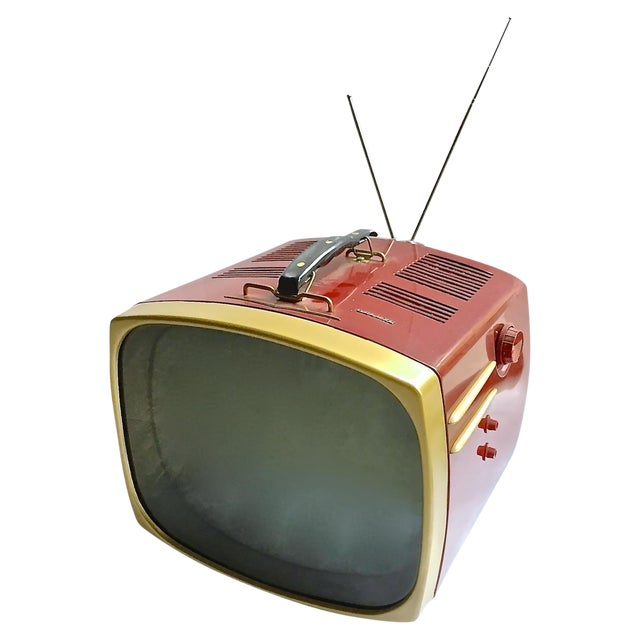 Image of Mid-Century Modern RCA Victor DeLuxe Portable TV