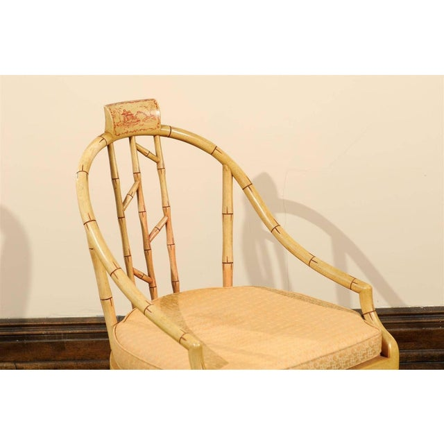 Hollywood Regency Bamboo Armchair - Image 3 of 7