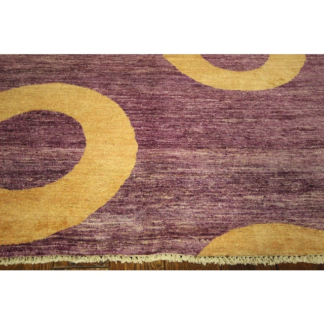 "Modern Purple Gabbeh Area Rug - 5'7"" x 8'2"" - Image 5 of 10"