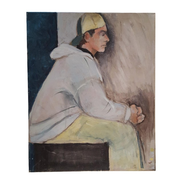 Casual Contemplation Painting - Image 1 of 3