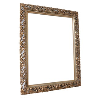 French Gold Filigree Carved Mirror