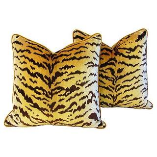 Scalamandre Le Tigre Mohair Pillows - A Pair