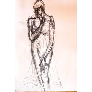 Tall Fashion Model Nude Drawing