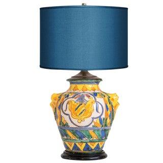 Bitossi Majolica Vase Lamp