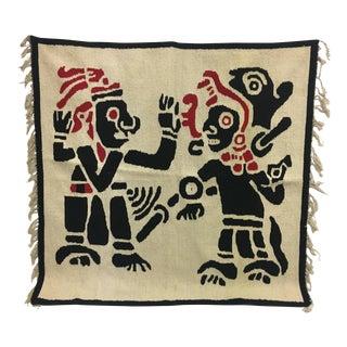 Aztec Dancers Vintage Textile