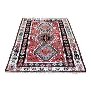 Vintage Turkish Kilim Rug - 3′6″ × 5′2″