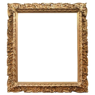 Monumental Carved Wood Frame