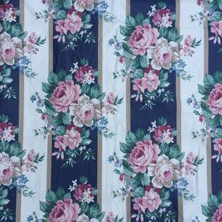 Vintage Schumacher Floral Chintz Fabric - 4.66 Yards