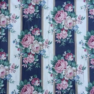 Vintage Schumacher Floral Chintz Fabric - 4.66 Yards