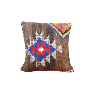 Moroccan Brown Berber Kilim Pillow