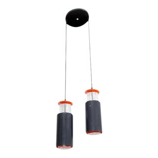 Danish Modern Poul Henningsen for Louis Poulsen Double Pendant Light Fixture