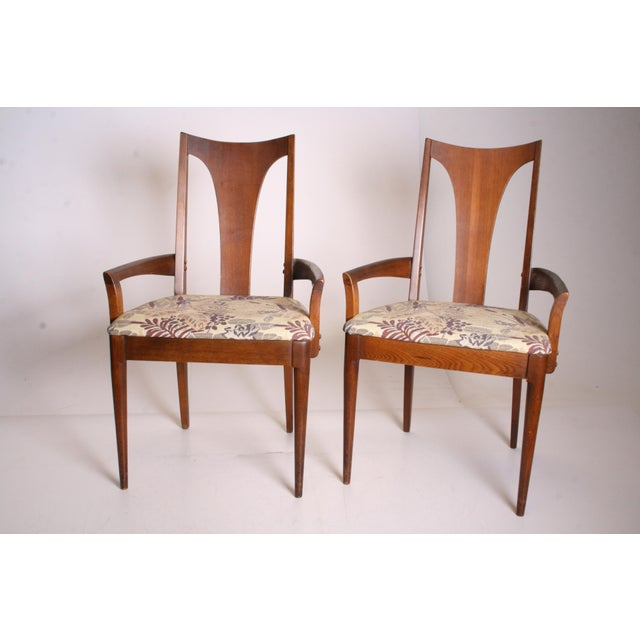 Mid Century Modern Broyhill Brasilia Dining Chairs - A Pair - Image 2 of 11