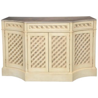 Marble-Top Checkerboard Sideboard