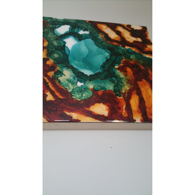 Image of Land & Sea Abstract Ink Painting