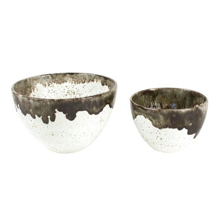 Gray Speckled Bowls - Pair