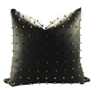 Spiked Faux Leather Handmade Pillow