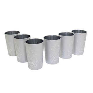 Moroccan Luxury Imilchil Silver Tea Glasses - Set of 6