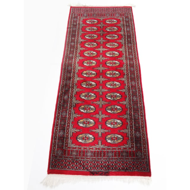 """Hand-Knotted Red Runner Rug - 2'6 x 6'4"""" - Image 11 of 11"""