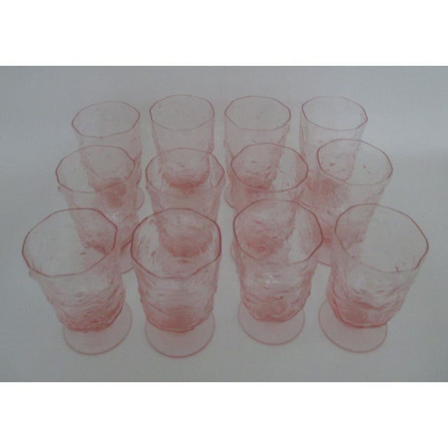 Image of Blush/ Pink Footed Vintage Tumblers - Set of 12
