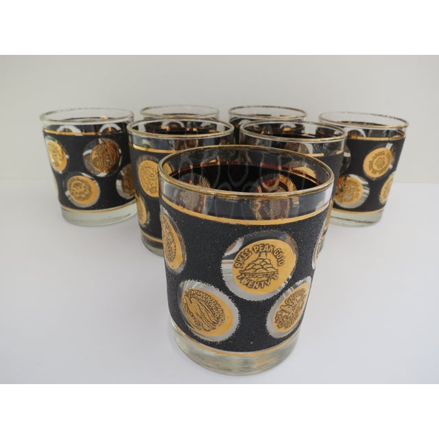 Gold Coin Lowball Glasses - Set of 7 - Image 3 of 6