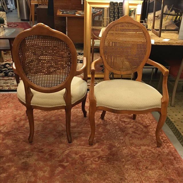 Cane Back Armchairs- A Pair - Image 6 of 10