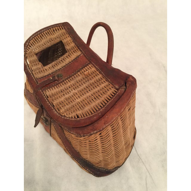 Antique Woven Creel Basket - Image 4 of 7