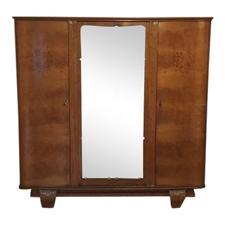 Art Deco Heirloom French Indian Rosewood Armoire