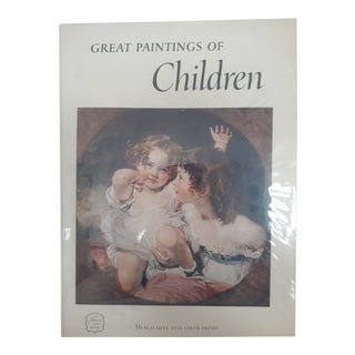 Great Paintings of Children Book With Prints, 1956