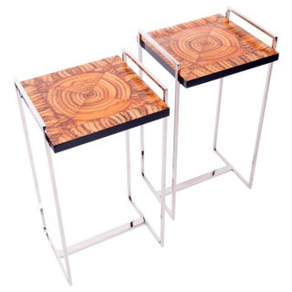 Christopher Anthony Ltd Faux Wood Tables - Pair