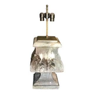 Italian 19th C. Stone Architectural Table Lamp