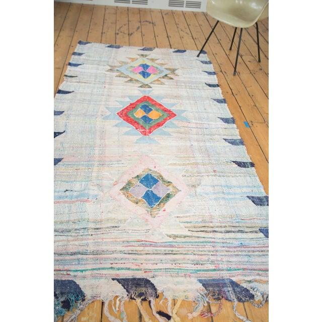 "Vintage Moroccan Rag Rug - 4'1"" X 8'6"" - Image 3 of 8"