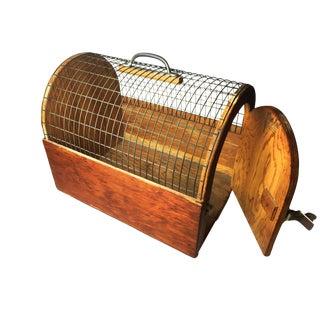 Vintage Mid-Century Style Handmade Pet Carrier