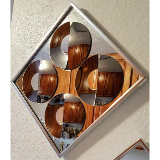1970s Vintage Hal Bienenfeld Op Art Mirrors - a Pair - Image 5 of 8