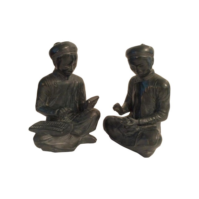 Asian Style Bookends - A Pair - Image 1 of 8