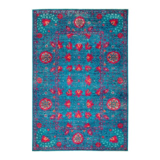 """Hand Knotted Suzani Area Rug - 6' 2"""" X 9' 0"""""""