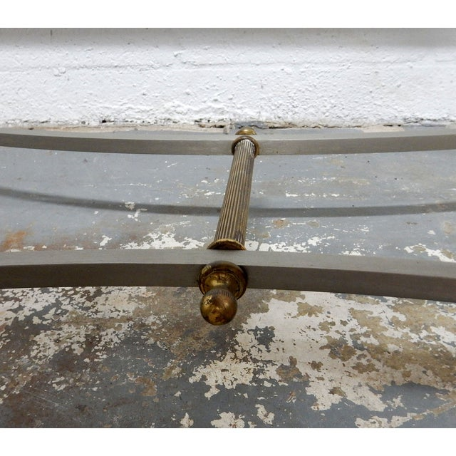 Vintage French Decorative Coffee Table With Brass - Image 6 of 11